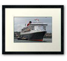 Queen Mary 2 Arrives Sydney 003 Framed Print
