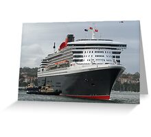 Queen Mary 2 Arrives Sydney 003 Greeting Card