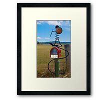 Spiral Man Letterbox Framed Print
