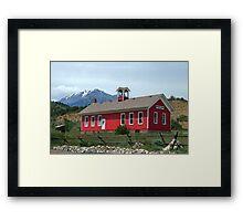 Historic Maysville School, Colorado Framed Print