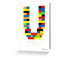 """U"" Greeting Card"