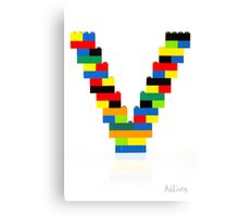 """V"" Canvas Print"