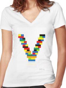 """""""V"""" Women's Fitted V-Neck T-Shirt"""