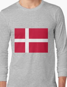 Danish flag Long Sleeve T-Shirt