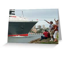 Queen Mary 2 Arrives Sydney 010 Greeting Card