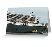Queen Mary 2 Arrives Sydney 011 Greeting Card