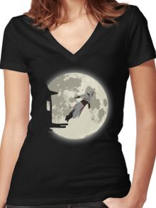 Leap of Faith | Night Women's Fitted V-Neck T-Shirt