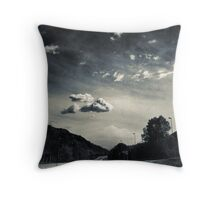 The road and the cloud Throw Pillow