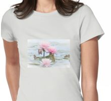 Water World of Lilies - Pond Lilies Womens Fitted T-Shirt