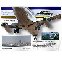 Air Zimbabwe - JHB/Victoria Falls Schedule Poster