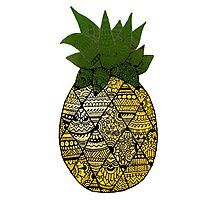 Pineapple: Gold/Green Photographic Print