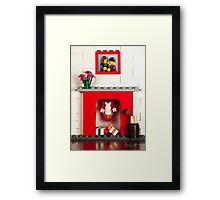 Wrong Way Santa! Framed Print