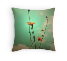 Vintage Weeds Throw Pillow