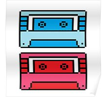 Retro Mix Tapes Poster