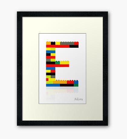 E Framed Print