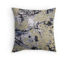 Winter Reflections on Pond Throw Pillow