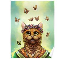 Butterfly Cat Poster