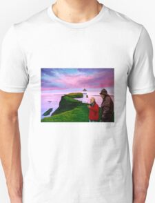 Lighthouse at Mykines Faroe Islands Painting T-Shirt