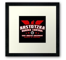 Papers Please - Arstotzka Border Control Framed Print