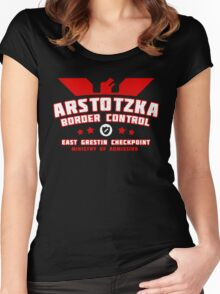 Papers Please - Arstotzka Border Control Women's Fitted Scoop T-Shirt