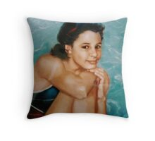 Denny in detail Throw Pillow