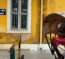 Rickshaw. Puducherry by Claude  Renault