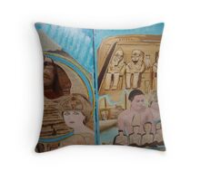 Egypt Travel Warning - You will meet Queen Diana & King Dodi in Pyramids - Sunilism Throw Pillow