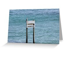 Warning Sign Greeting Card