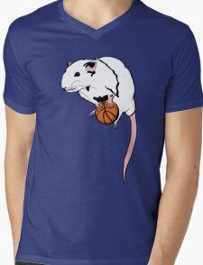 Basketball Rat Mens V-Neck T-Shirt