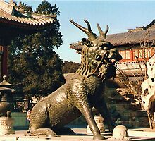 Beijing - Summer Palace - A bronze monster (Qilin) by presbi