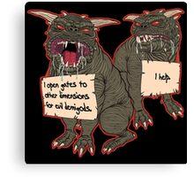Terror Dog Shaming Canvas Print