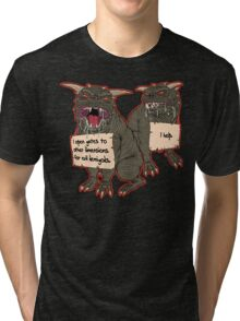 Terror Dog Shaming Tri-blend T-Shirt