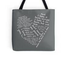 Quotes of the Heart - Janto (White) Tote Bag