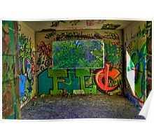 Graffiti Room with Forest View Poster