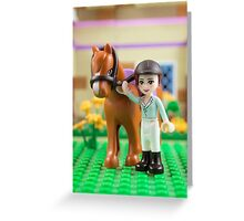 Mia with her horse Greeting Card