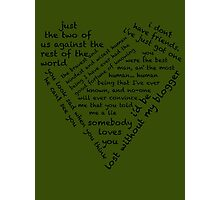 Quotes of the Heart - Johnlock (Black) Photographic Print