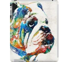 Bulldog Pop Art - How Bout A Kiss - By Sharon Cummings iPad Case/Skin