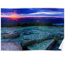 Sunset on Cadillac Mountain Poster