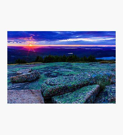 Sunset on Cadillac Mountain Photographic Print