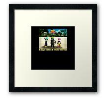 Dragonball Online Revelations - Keep Calm & Time Travel Framed Print