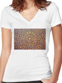 arab painting Women's Fitted V-Neck T-Shirt