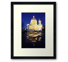 Reflecting church Framed Print