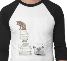 The Cat Who Could Read Men's Baseball ¾ T-Shirt