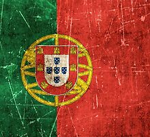 Vintage Aged and Scratched Portuguese Flag by Jeff Bartels