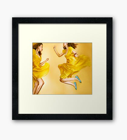 Dancing with myself Framed Print