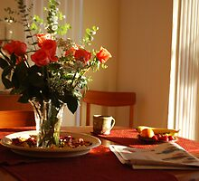 Breakfast with morning reflection  by Shelby  Stalnaker Bortone