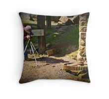 Looking For That Perfect Shot Throw Pillow