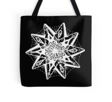 Star Tangles 1 White - An Aussie Tangle  by Heather Holland - See Product Notes for Colour Options Tote Bag