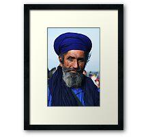 Man in Blue Framed Print