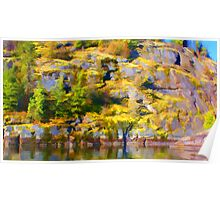 """Waterside Rock Wall Painted"" Poster"